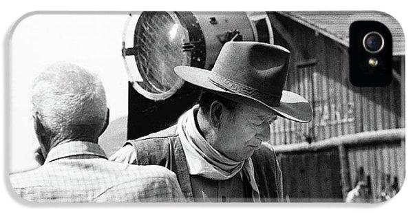 John Wayne Director Howard Hawks Rio Lobo Set Old Tucson Arizona 1970-2016 IPhone 5 / 5s Case by David Lee Guss