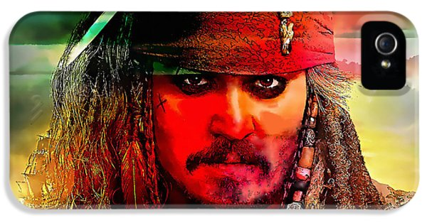 Johnny Depp Painting IPhone 5 Case by Marvin Blaine