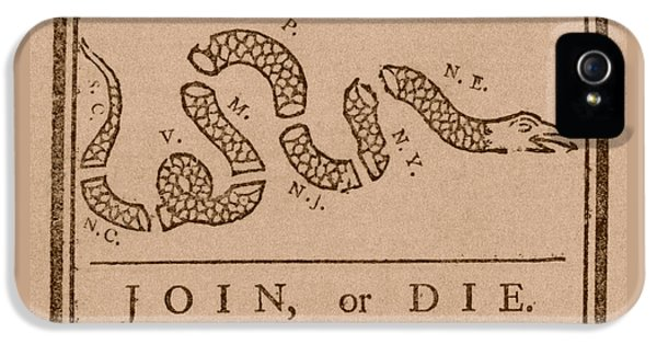 Join Or Die IPhone 5 Case by War Is Hell Store