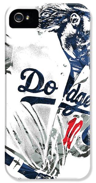 Los Angeles Dodgers iPhone 5 Case - Justin Turner Los Angeles Dodgers Pixel Art by Joe Hamilton