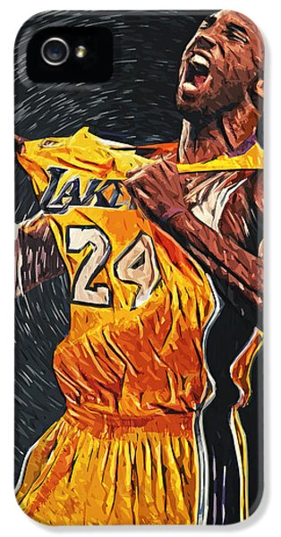 Kobe Bryant IPhone 5 Case by Taylan Apukovska
