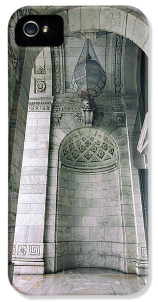 IPhone 5 Case featuring the photograph Library Portico by Jessica Jenney