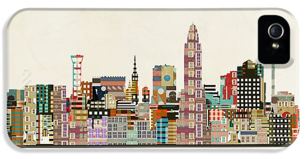 Nebraska iPhone 5 Case - Lincoln Nebraska Skyline by Bri Buckley