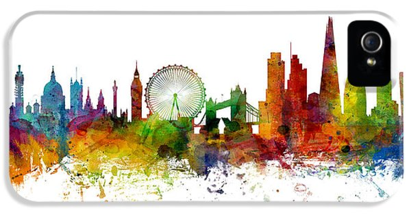 London England Skyline Panoramic IPhone 5 Case by Michael Tompsett