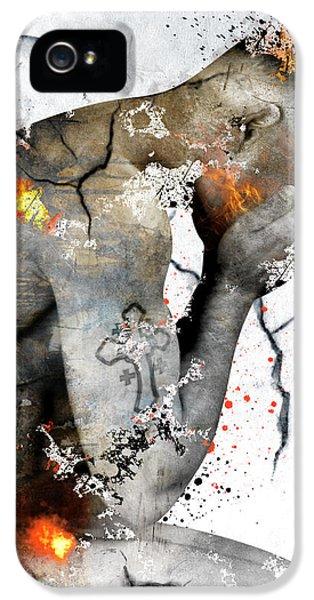 Male Nude  IPhone 5 Case by Mark Ashkenazi