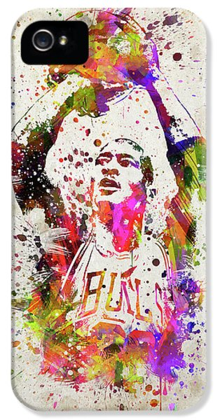 Michael Jordan In Color IPhone 5 Case by Aged Pixel