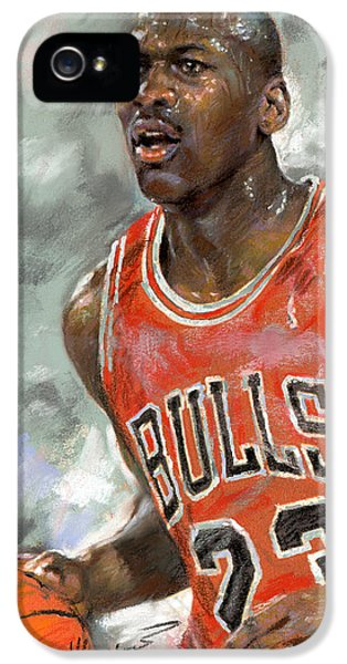 Nba iPhone 5 Cases - Michael Jordan iPhone 5 Case by Ylli Haruni