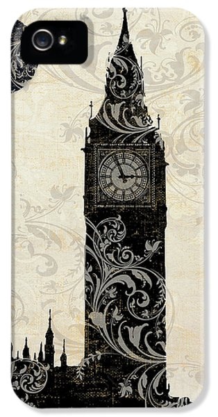 Moon Over London IPhone 5 Case by Mindy Sommers