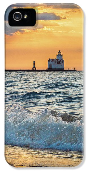 IPhone 5 Case featuring the photograph Morning Dance On The Beach by Bill Pevlor