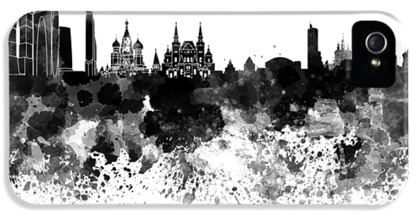 Moscow Skyline White Background IPhone 5 Case