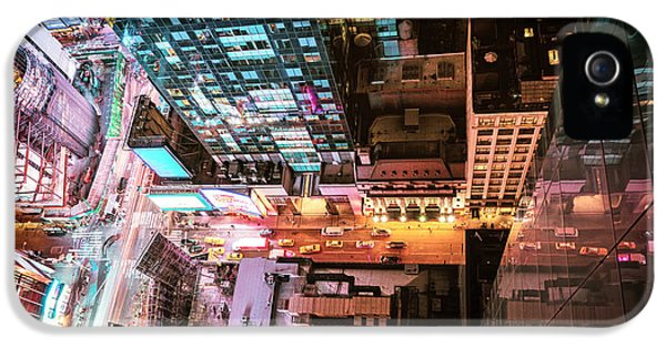 New York City - Night IPhone 5 Case by Vivienne Gucwa