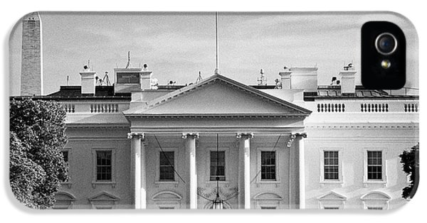 Whitehouse iPhone 5 Case - north facade from pennsylvania avenue the white house with washington monument in the background Was by Joe Fox