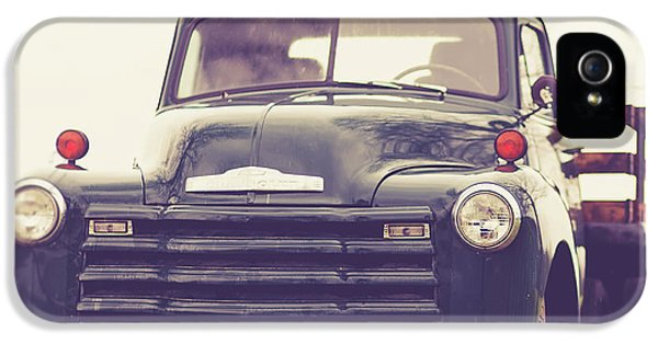 Green iPhone 5 Case - Old Chevy Farm Truck In Vermont Square by Edward Fielding