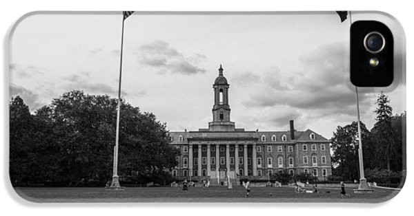 Old Main Penn State Black And White  IPhone 5 Case by John McGraw