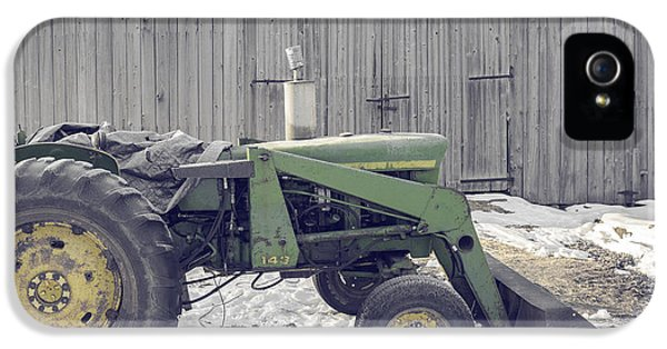 Etna iPhone 5 Case - Old Tractor By The Grey Barn by Edward Fielding