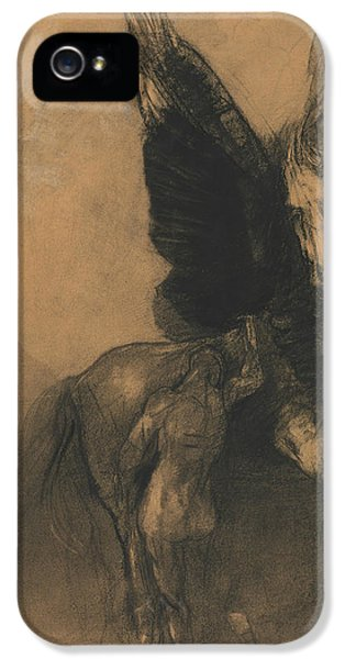 Pegasus And Bellerophon IPhone 5 / 5s Case by Odilon Redon
