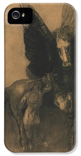 Pegasus And Bellerophon IPhone 5 Case by Odilon Redon