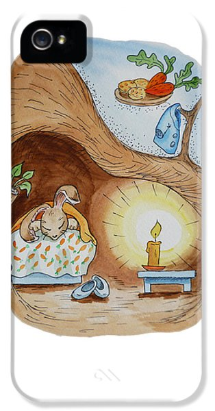 Peter Rabbit And His Dream IPhone 5 Case by Irina Sztukowski