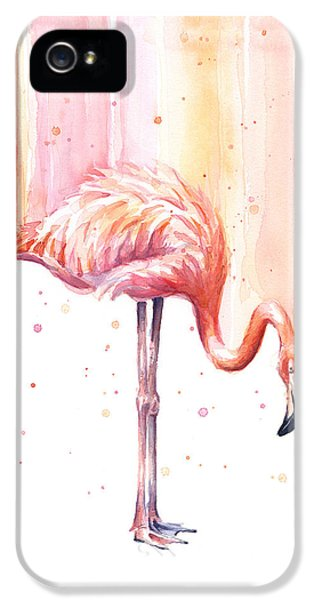Pink Flamingo - Facing Right IPhone 5 Case