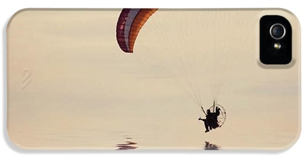 iPhone 5 Case - Powered Paraglider by John Edwards