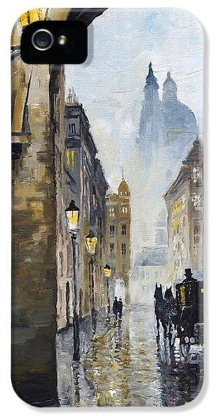 Prague Old Street 01 IPhone 5 Case by Yuriy  Shevchuk