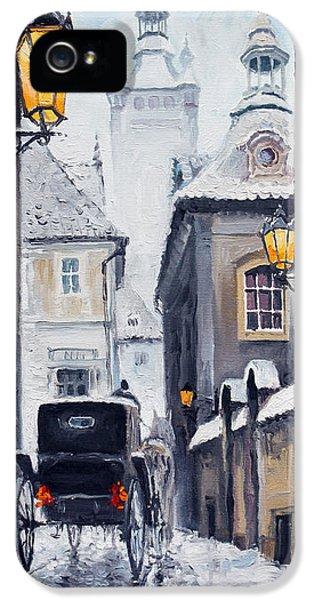 Prague Old Street 02 IPhone 5 Case by Yuriy  Shevchuk