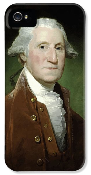 President George Washington  IPhone 5 / 5s Case by War Is Hell Store
