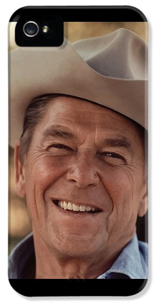 President Ronald Reagan IPhone 5 / 5s Case by War Is Hell Store