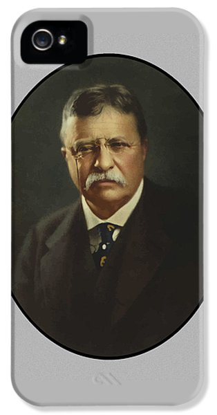 President Theodore Roosevelt  IPhone 5 Case by War Is Hell Store