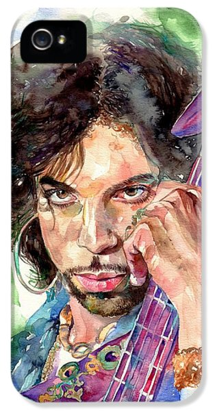 Legends iPhone 5 Case - Prince Rogers Nelson Portrait by Suzann's Art