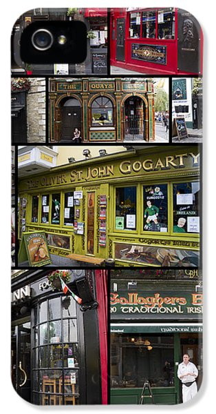 Pubs Of Dublin IPhone 5 Case by David Smith