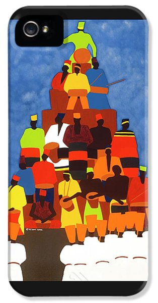 iPhone 5 Case - Pyramid Of African Drummers by Synthia SAINT JAMES