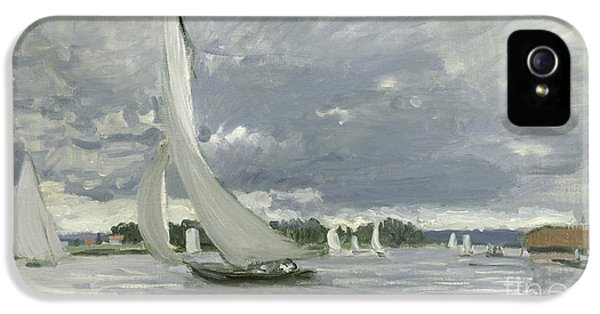 Regatta At Argenteuil IPhone 5 Case by Claude Monet