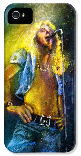 Robert Plant 01 IPhone 5 Case by Miki De Goodaboom