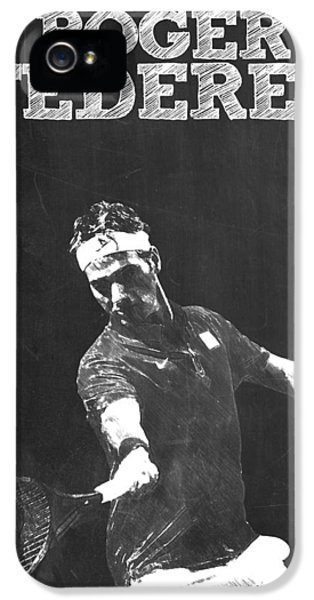 Serena Williams iPhone 5 Case - Roger Federer by Semih Yurdabak
