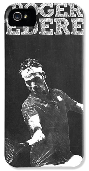 Roger Federer IPhone 5 Case by Semih Yurdabak