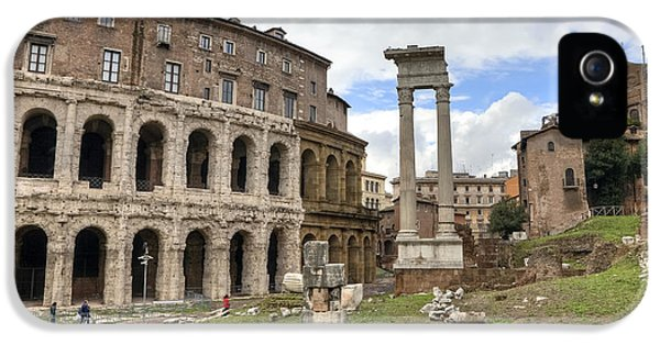 Archeology iPhone 5 Cases - Rome - Theatre of marcellus iPhone 5 Case by Joana Kruse