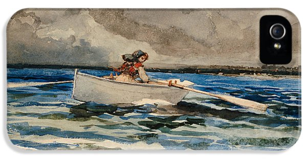 Rowing At Prouts Neck IPhone 5 Case by Winslow Homer