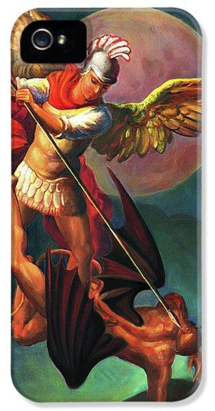 iPhone 5 Case - Saint Michael The Warrior Archangel by Svitozar Nenyuk