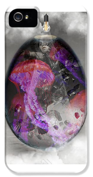 Sea Creature Jellyfish Art IPhone 5 Case by Marvin Blaine