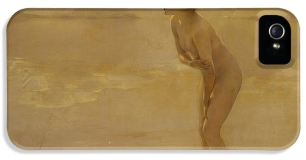 September Morn IPhone 5 Case by Paul Chabas