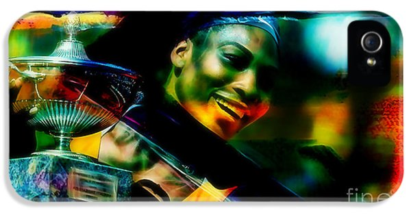 Serena Williams iPhone 5 Case - Serena Williams by Marvin Blaine