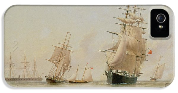 Ship Painting IPhone 5 Case by WF Settle
