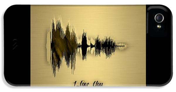 Sound Wave I Love You IPhone 5 Case by Marvin Blaine