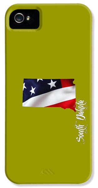 South Dakota Map Collection IPhone 5 Case by Marvin Blaine
