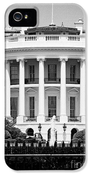 south facade of the white house Washington DC USA IPhone 5 Case by Joe Fox