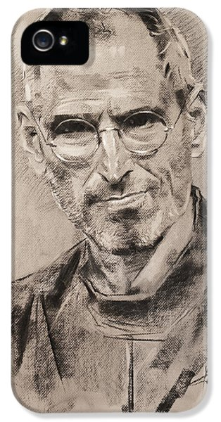 Computer iPhone 5 Cases - Steve Jobs iPhone 5 Case by Ylli Haruni