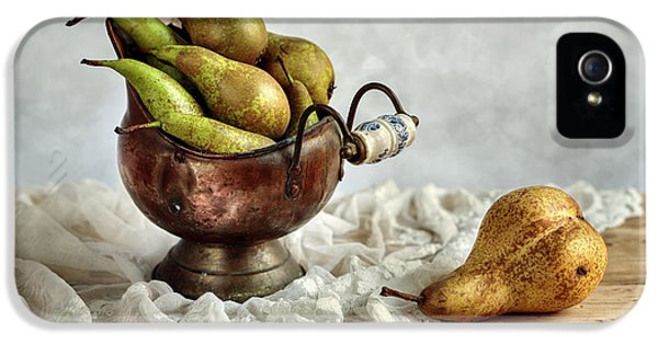 Still-life With Pears IPhone 5 Case by Nailia Schwarz