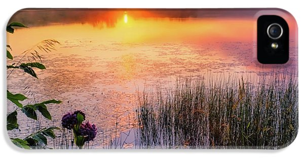 IPhone 5 Case featuring the photograph Summer Sunrise Square by Bill Wakeley