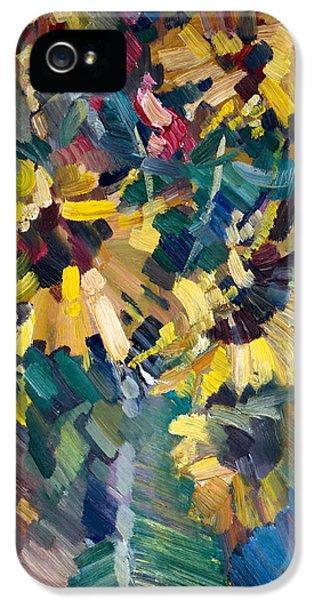 Flowers iPhone 5 Case - Sunflowers by Nikolay Malafeev